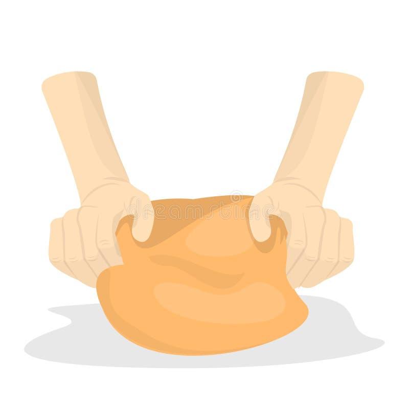 ciasto ręki ugniatają E ilustracji