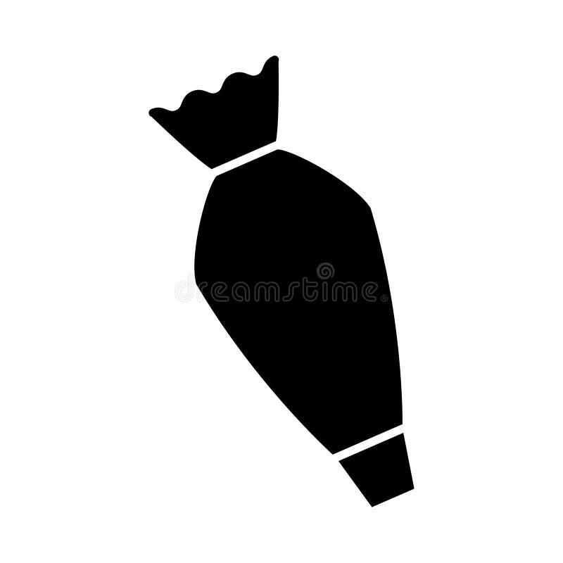Ciasto torby ikona, wektorowa ilustracja royalty ilustracja