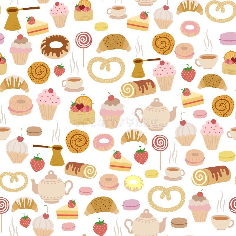 ciasto wzór royalty ilustracja