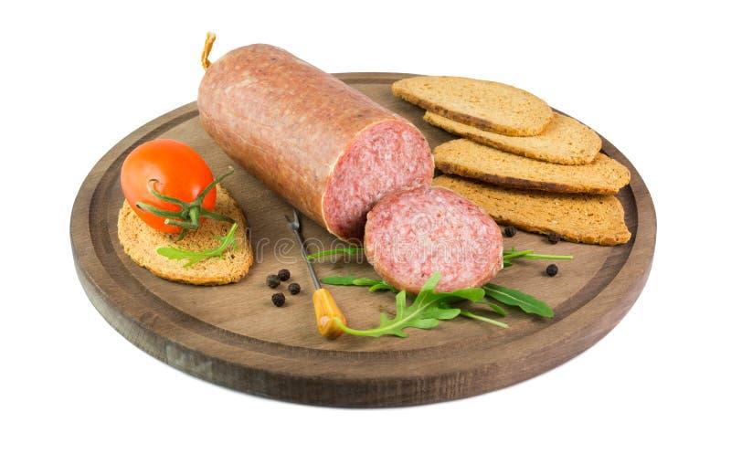 Ciauscolo italiano del salame immagine stock