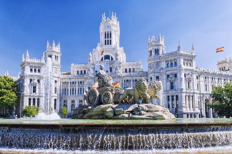 cibeles fontanna Madrid Spain obrazy royalty free