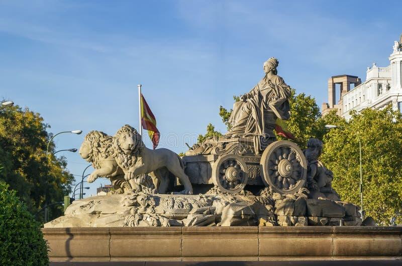 Cibeles Fontanna, Madryt obraz royalty free