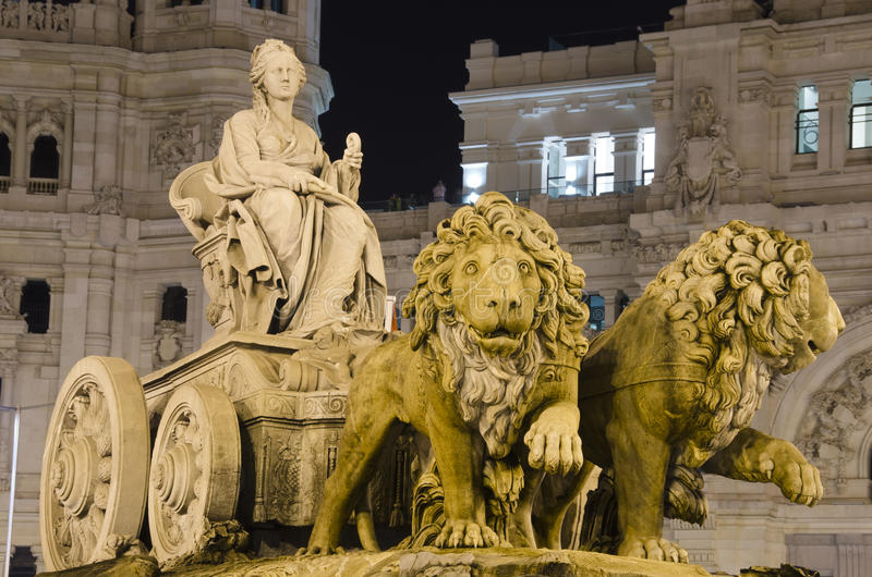 Download Cibeles Fountain In Madrid, Spain Stock Image - Image of international, panoramic: 25963457