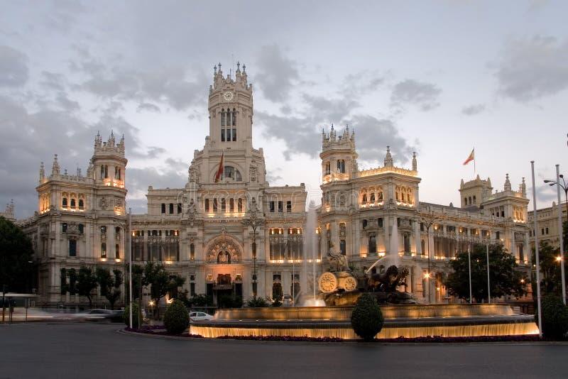Cibeles Quadrat, Madrid, Spanien stockbild