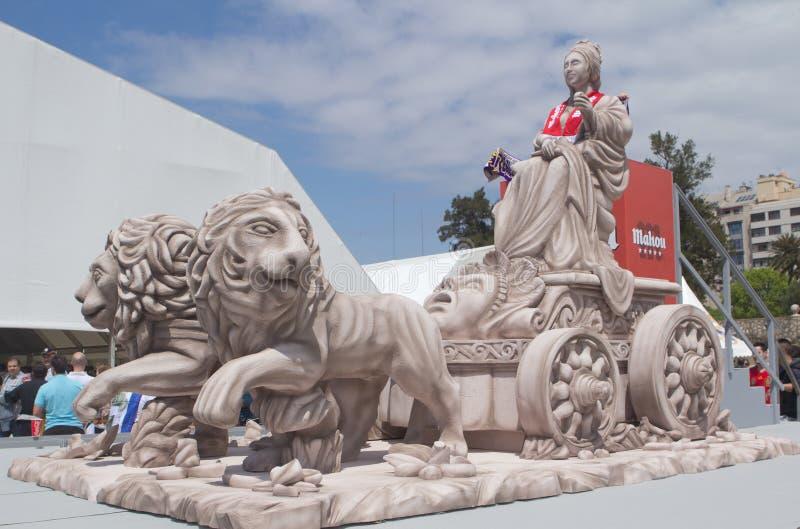 cibeles repliki statua zdjęcia royalty free
