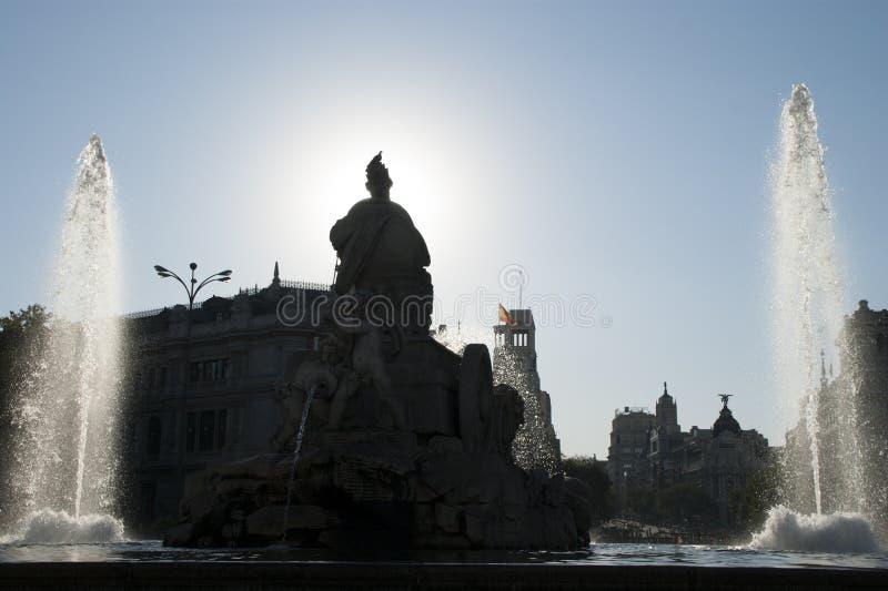 Cibeles zabytek w Madryt obrazy stock