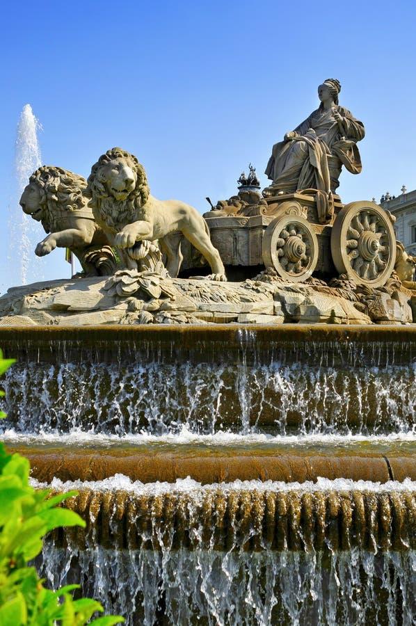 cibelesspringbrunn madrid spain royaltyfri fotografi