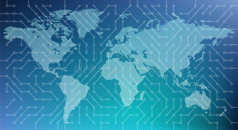 Ciberespacio/numeración/red/de alta tecnología - ejemplo del vector stock de ilustración