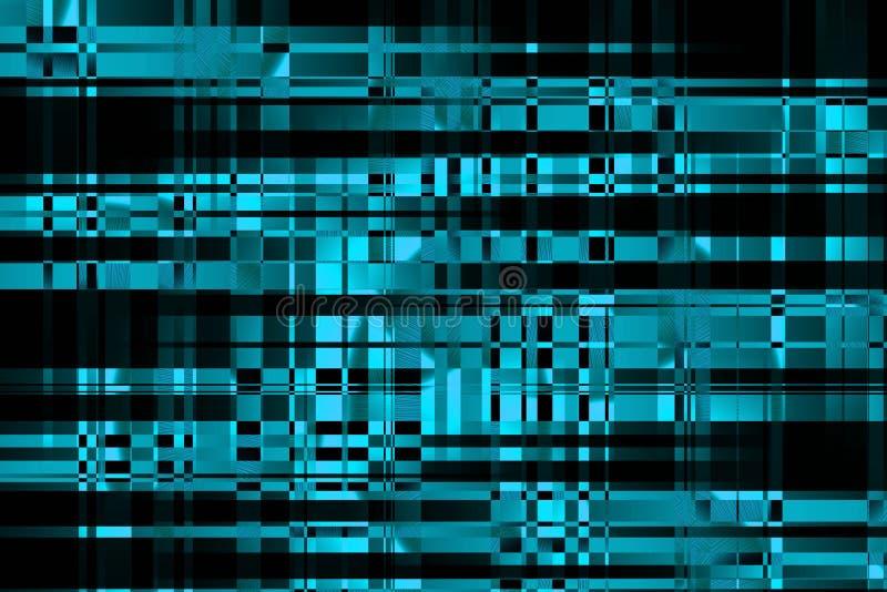 Ciberespacio y redes de ordenadores Interfaz del ordenador del usuario Datos grandes proceccing Ejemplo abstracto moderno de la i libre illustration