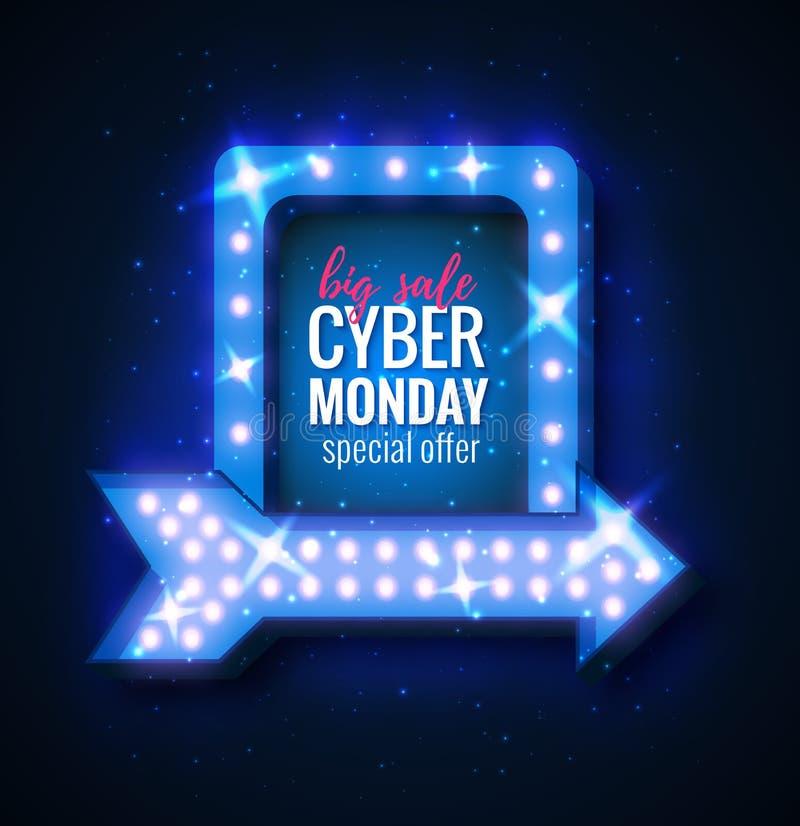 Cibernético-lunes stock de ilustración