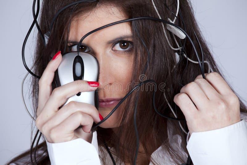 cibernetic妇女 库存照片