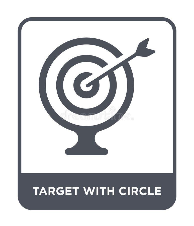cible avec l'icône de cercle dans le style à la mode de conception cible avec l'icône de cercle d'isolement sur le fond blanc cib illustration libre de droits