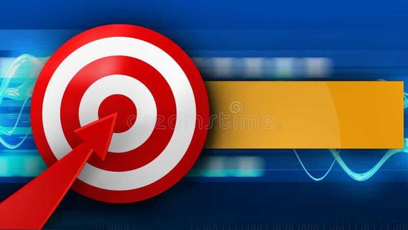 cible 3d avec la flèche rouge illustration stock
