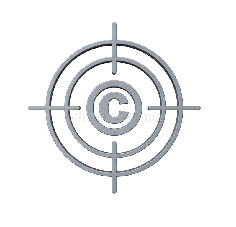 Cible de copyright illustration stock