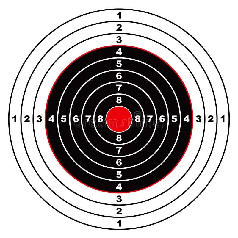 Cible de fusil illustration stock
