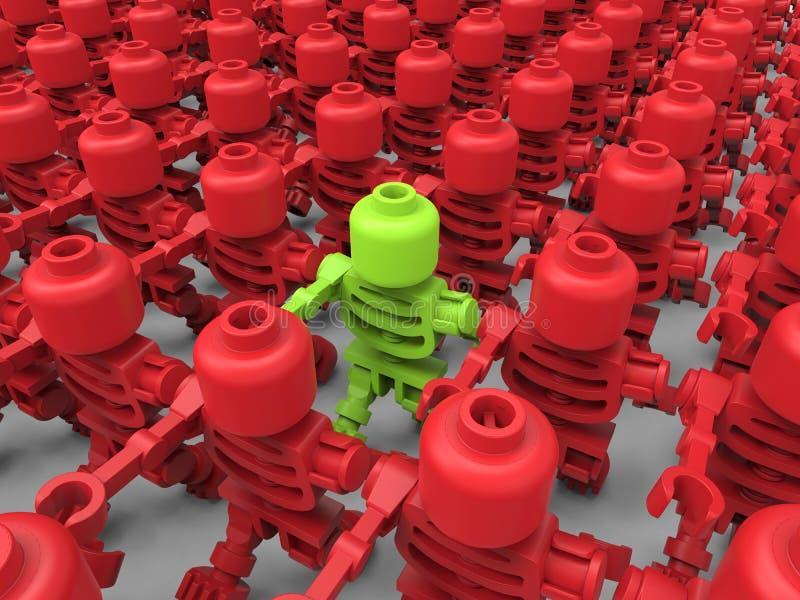 Cible de jouet dans le concept de foule illustration de vecteur