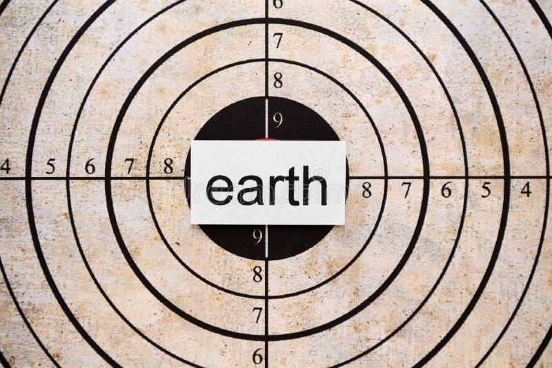 Cible de la terre illustration stock