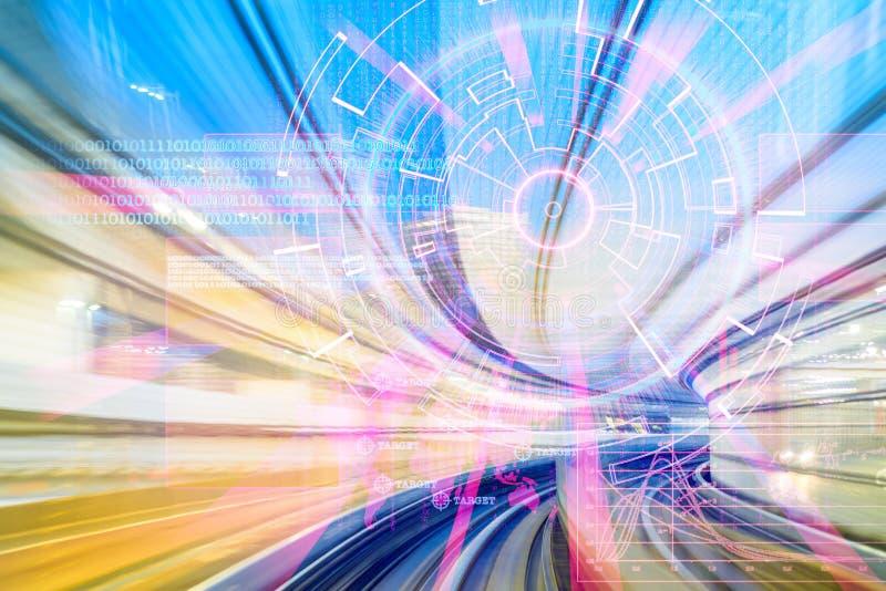 Cible de laser rouge de Cyber sur un concept de vitesse illustration libre de droits