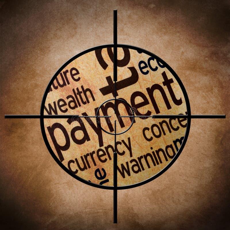Cible de paiement illustration libre de droits