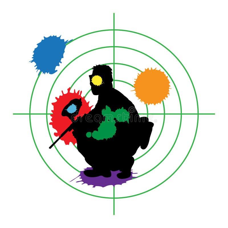 Cible de Paintball illustration stock