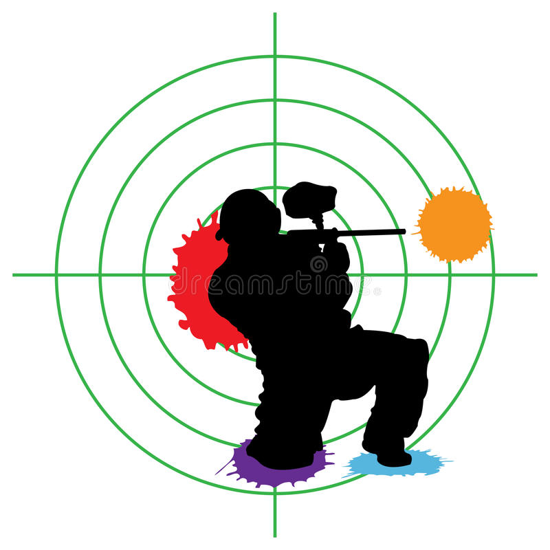 Cible de Paintball illustration de vecteur