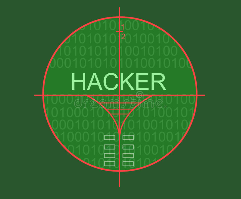 Cible de pirate informatique illustration stock