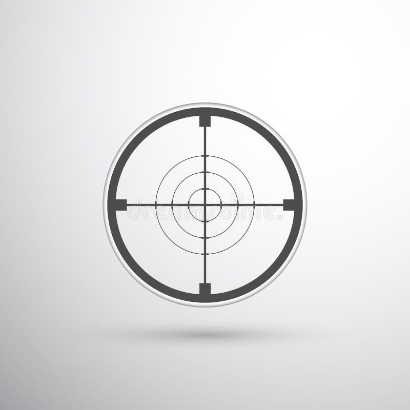 Cible de portée de tireur isolé illustration stock