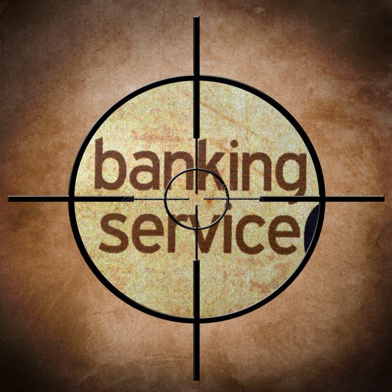Cible de service bancaire illustration libre de droits