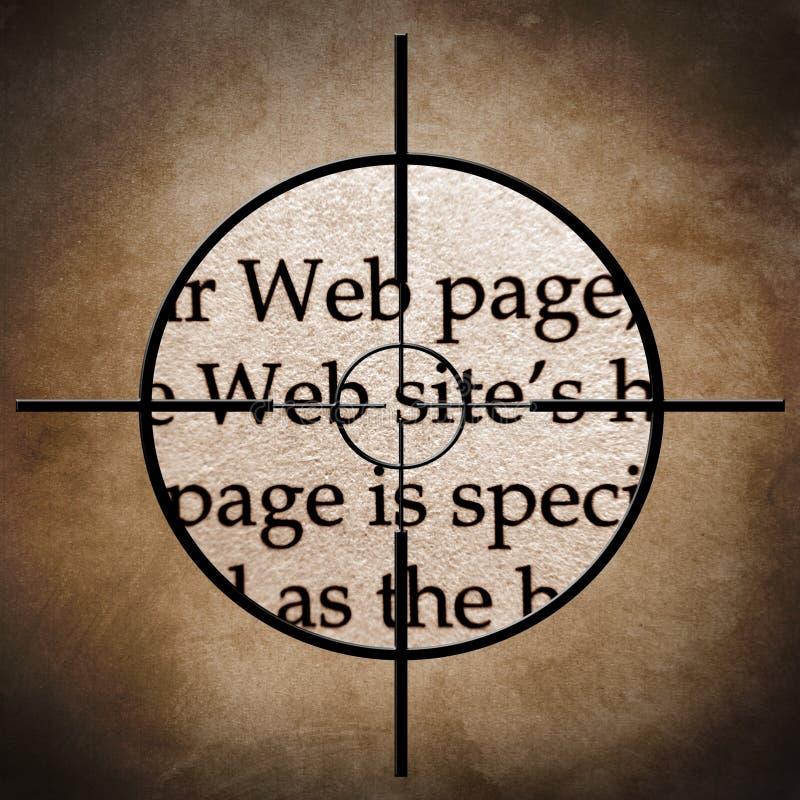 Cible de site Web illustration stock