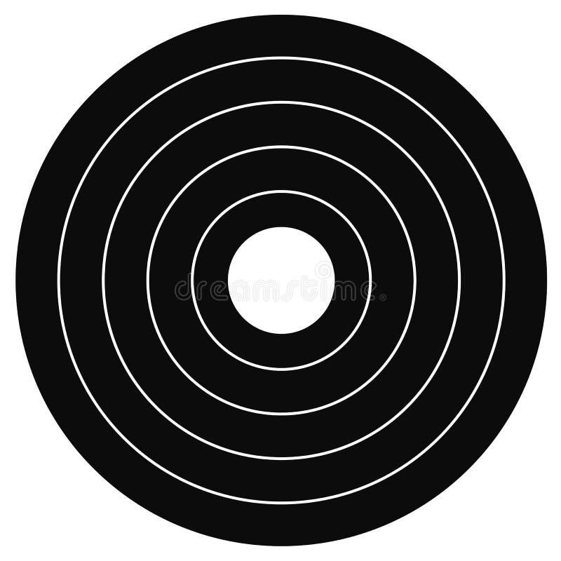 cible de tir à l'arc de zone de 40 cm image libre de droits