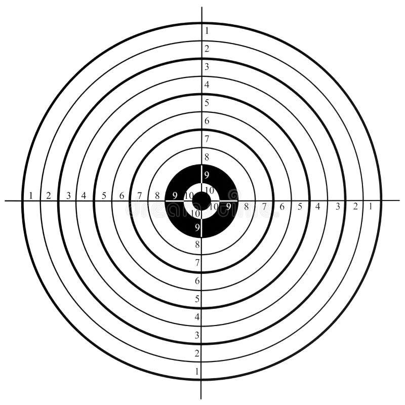 Cible de tir photo libre de droits