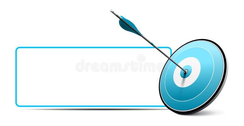 Cible et flèche, icône d'affaires de vecteur illustration stock