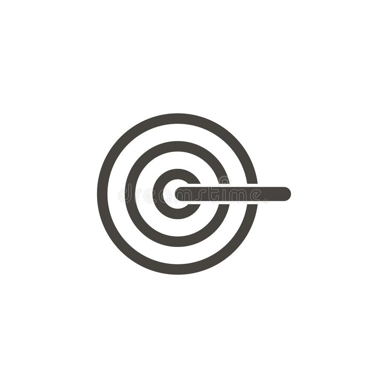 Cible, icône de vecteur de boudine IllustrationTarget simple d'élément, icône de vecteur de boudine Illustration mat?rielle de ve illustration stock