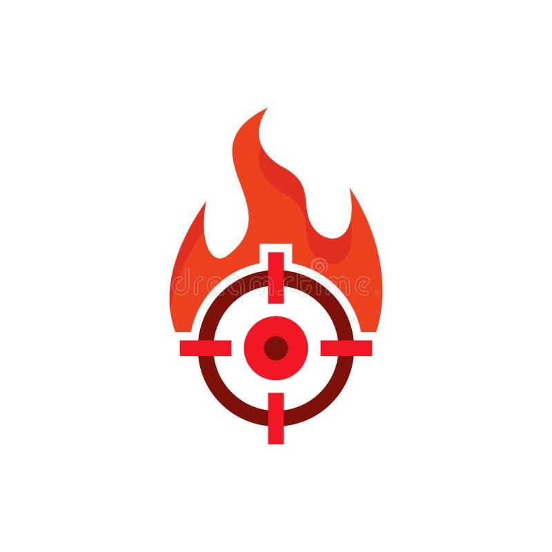 Cible Logo Icon Design de brûlure illustration libre de droits