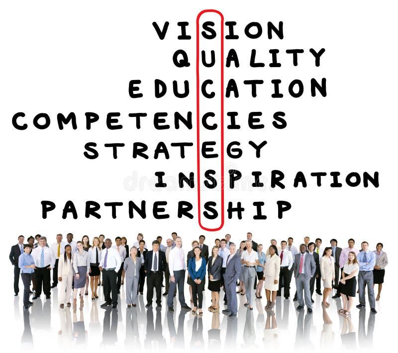 Cible Victory Strategy Vision Concept de but de succès illustration libre de droits