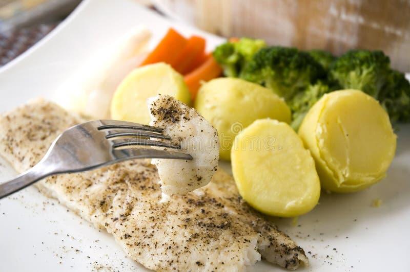 Cibo dei pesci cotti immagine stock libera da diritti