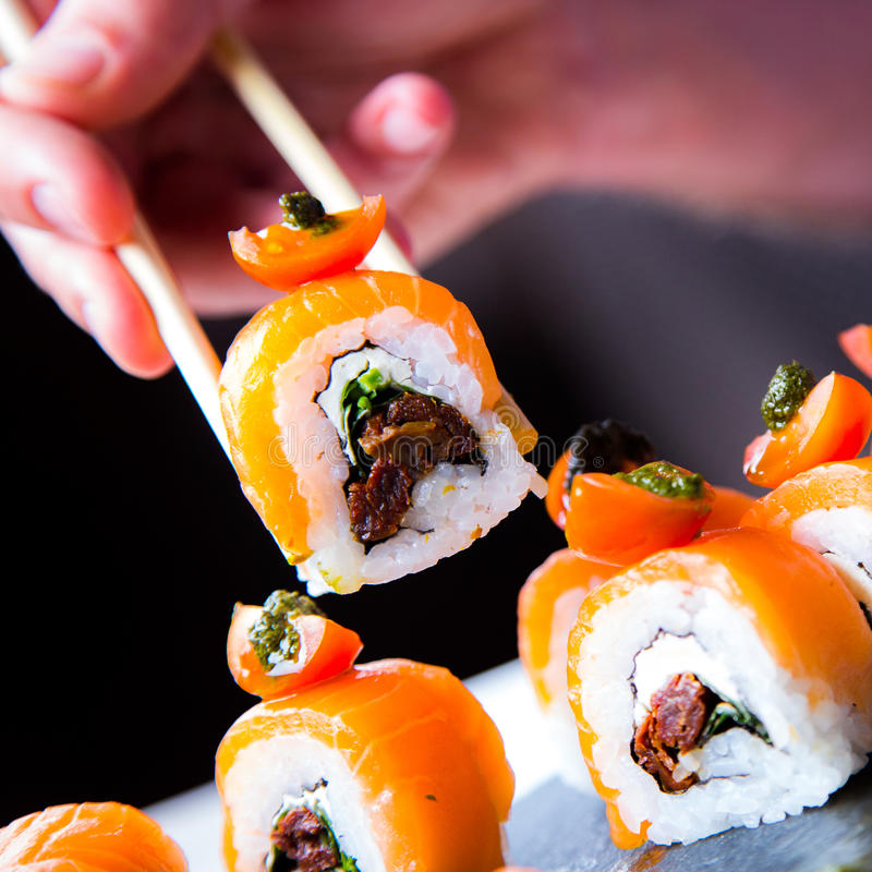 Cibo dei sushi immagine stock