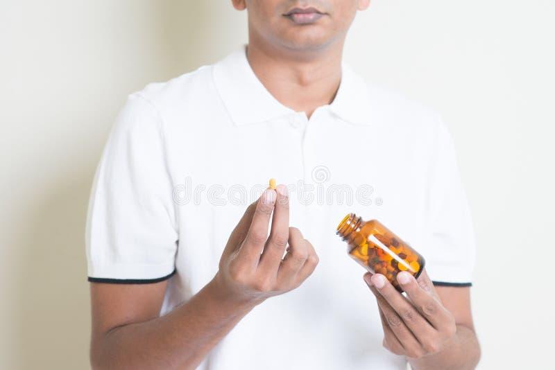 Cibo della capsula della medicina fotografia stock