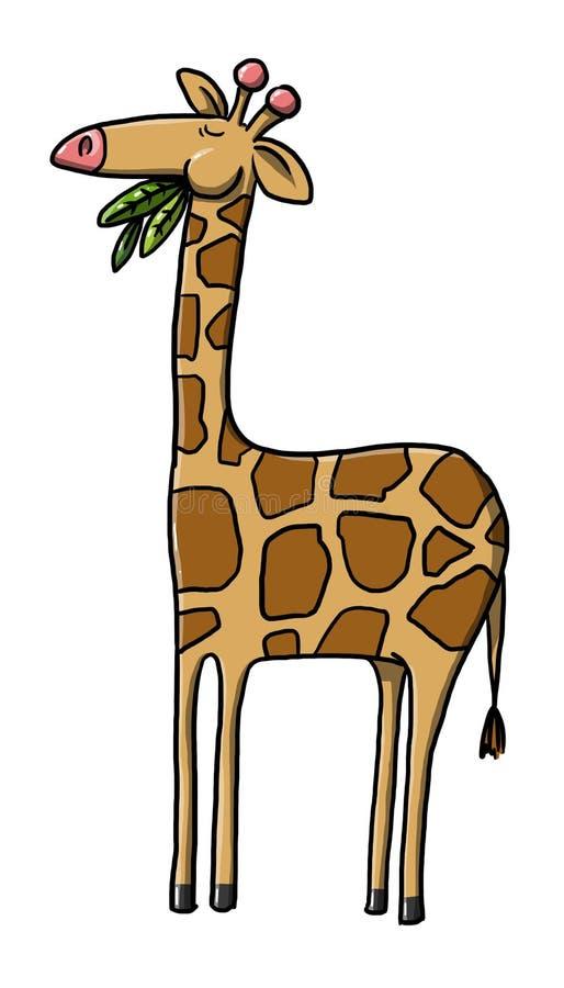 Cibo giallo della giraffa del bambino illustrazione vettoriale