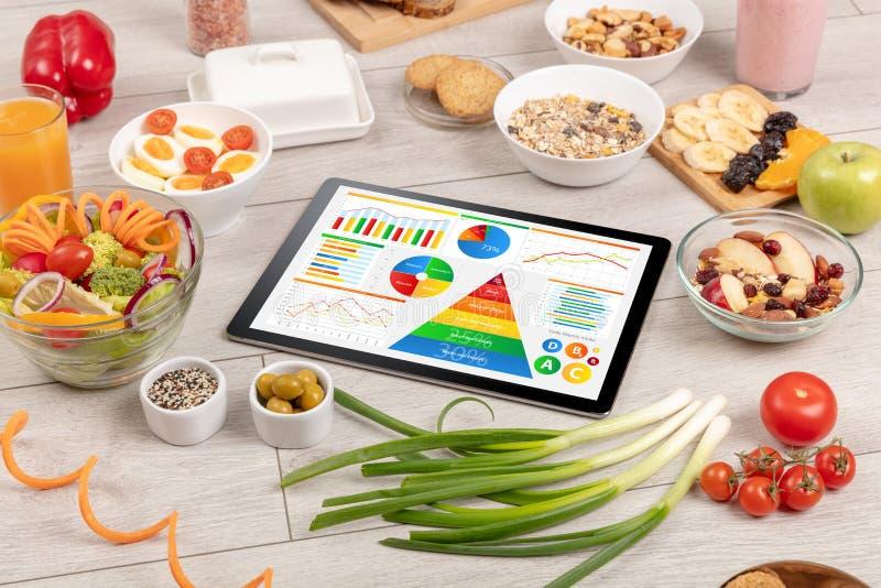Cibo sano, vitamine, concetto stante a dieta immagini stock libere da diritti