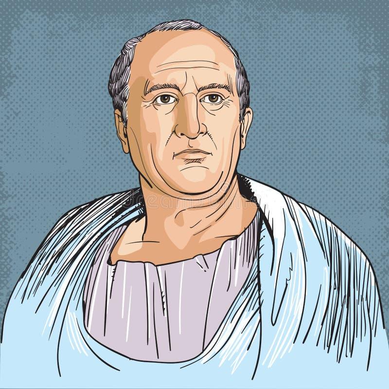 Cicero, kreskowej sztuki portret royalty ilustracja