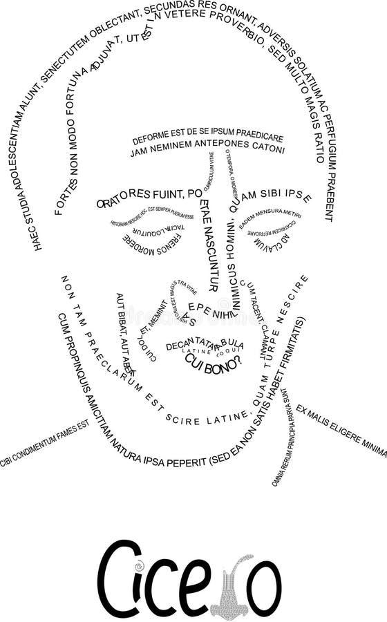 Cicero, portret aphorisms ilustracji