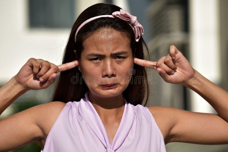 Cicha atrakcyjna Filipina Adult zdjęcie royalty free