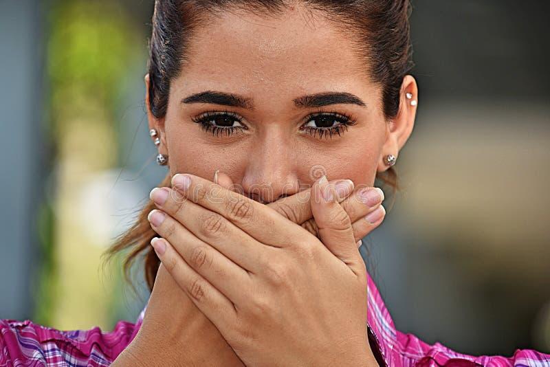 Cicha Dorosła kobieta zdjęcia royalty free
