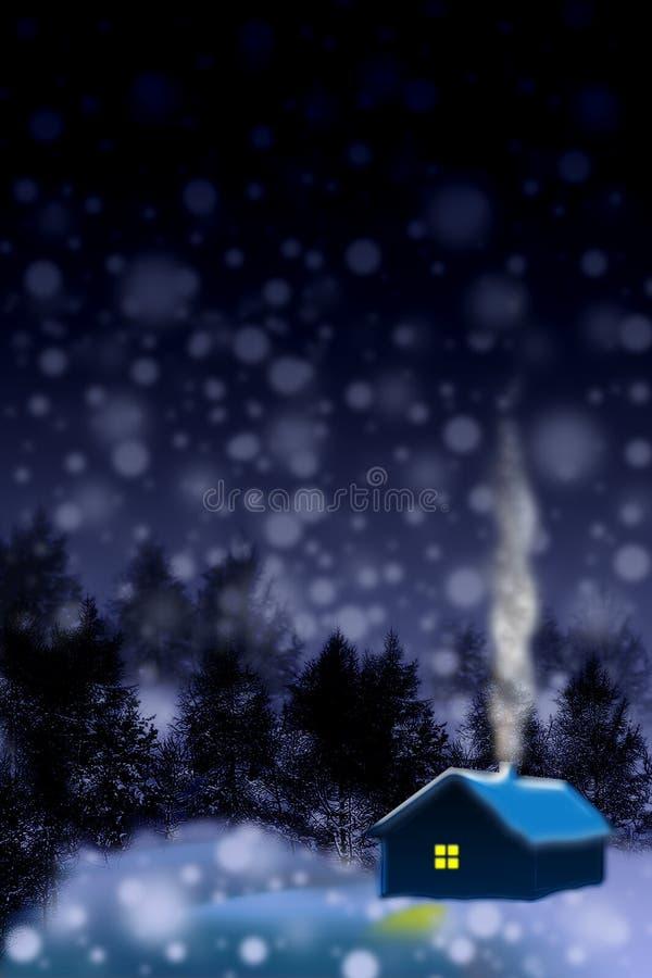cicha noc, royalty ilustracja