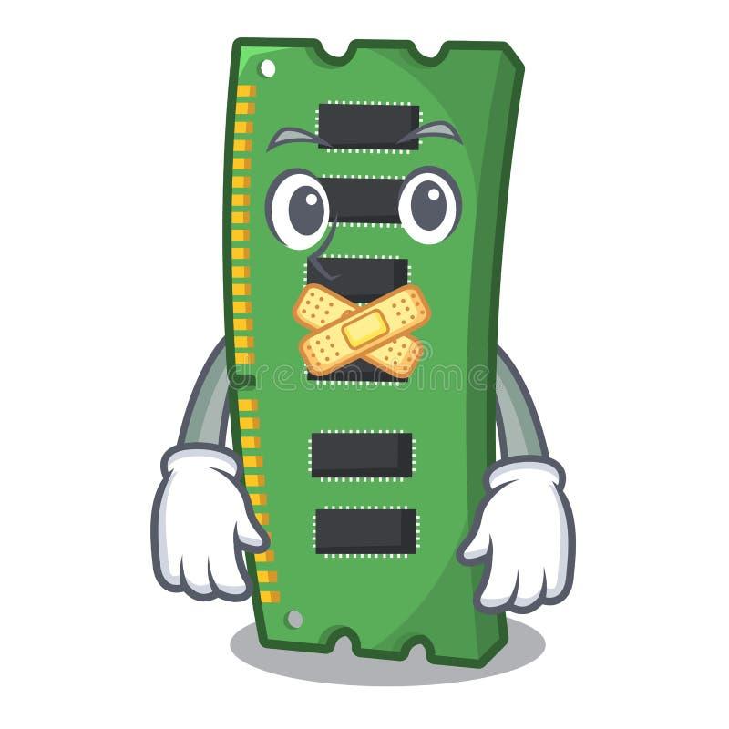 Cicha RAM karta pami?ci nad kresk?wka st?? ilustracji