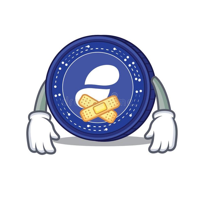 Cicha status monety maskotki kreskówka ilustracji