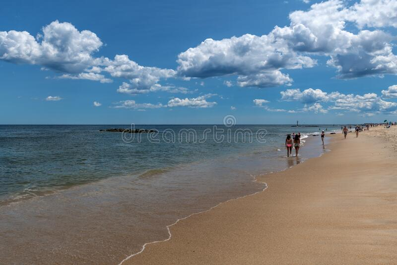 Cicha wiosna Lake Beach zdjęcia royalty free