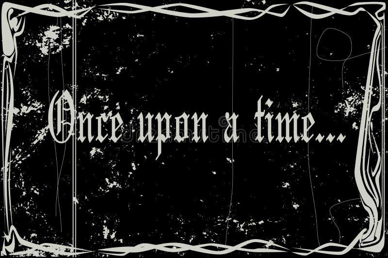 Cichego filmu rama Once Na czas Z Grunge royalty ilustracja