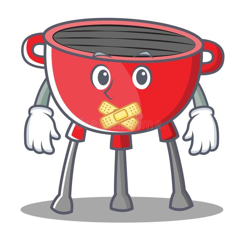 Cichy grilla grilla postać z kreskówki ilustracji